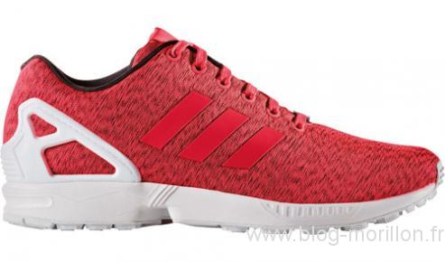 adidas zx flux femme rouge