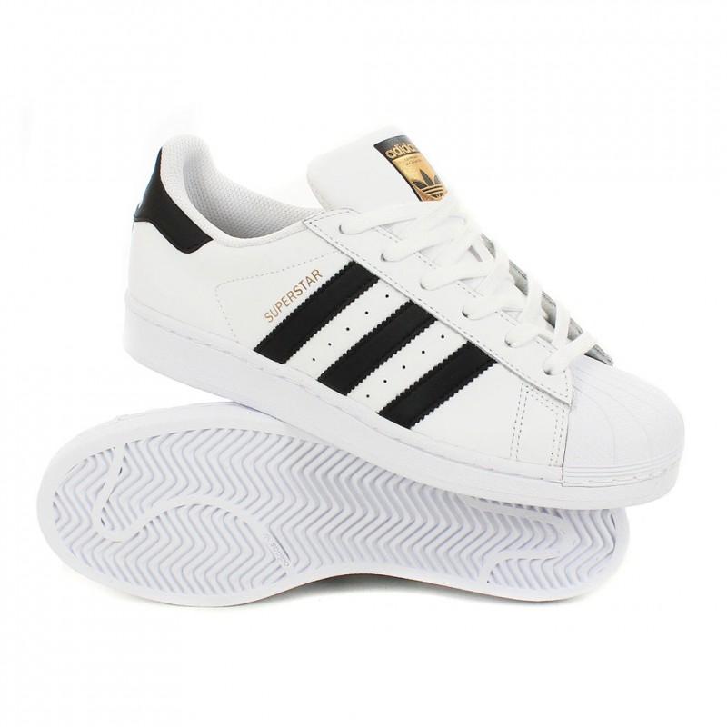 basket adidas noir et blanche femme pas cher